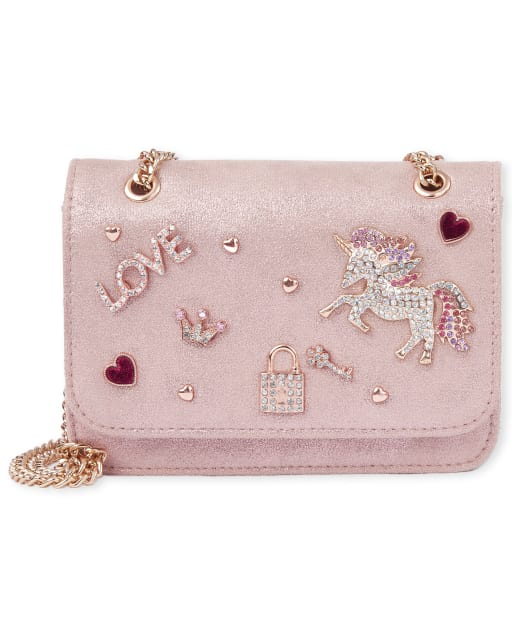Girls Jeweled Unicorn Bag