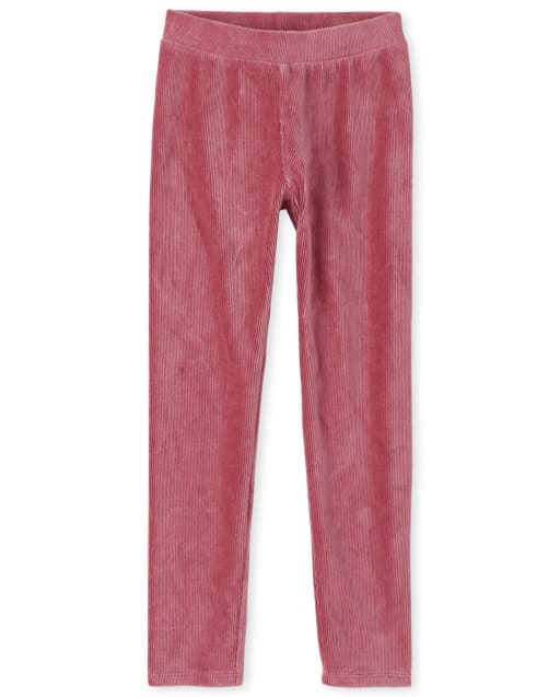 Girls Velour Rib Leggings
