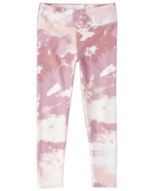 Girls Tie Dye Active Leggings