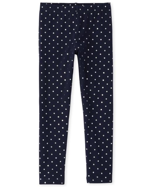 Girls Sparkle Knit Leggings