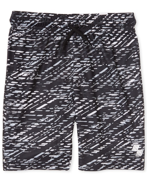 Boys Mix And Match Print Knit Performance Basketball Shorts