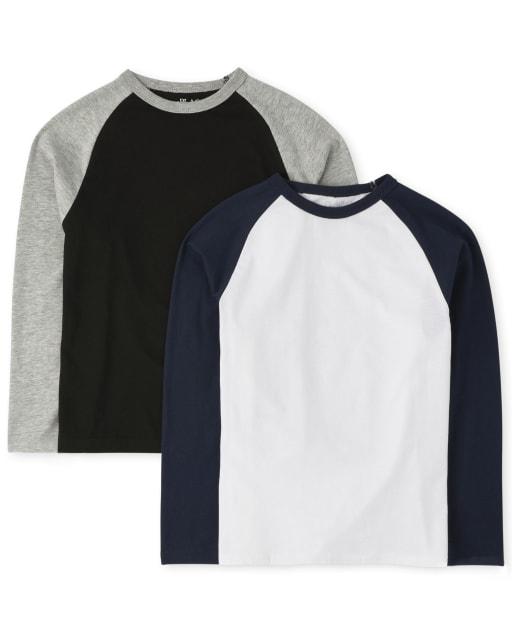 Boys Long Sleeve Raglan Top 2-Pack
