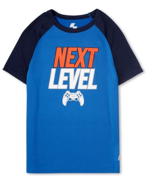Boys Mix And Match Short Sleeve Graphic Performance Top