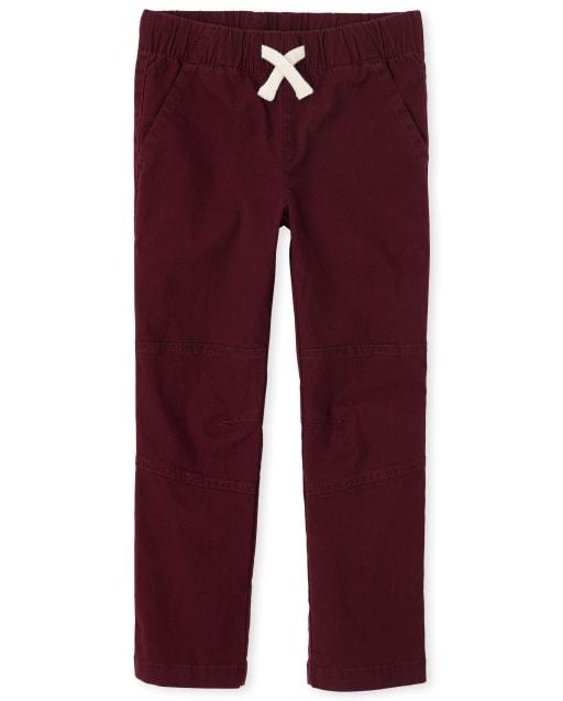 Pantalones de chándal elásticos ajustados tejidos para niños