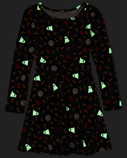 The Childrens Place Girls Long Sleeve Halloween Dress