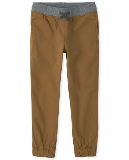 Pantalones de chándal elásticos tejidos para niños