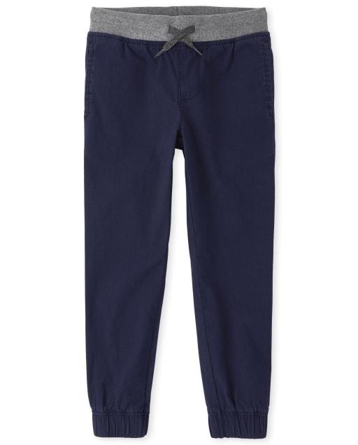 Pantalones jogger elásticos para niños