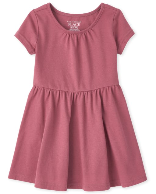 Toddler Girls Short Sleeve Knit Essential Skater Dress