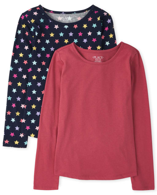 Girls Long Sleeve Top 2-Pack