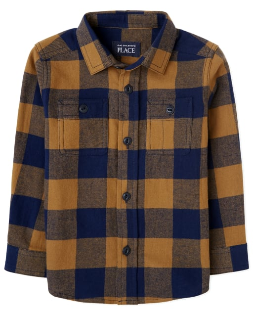Baby And Toddler Boys Dad And Me Long Sleeve Plaid Flannel Matching Button Down Shirt