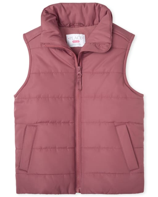 Girls Sleeveless Puffer Vest