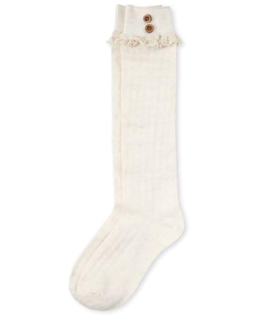 Girls Pointelle Boot Socks