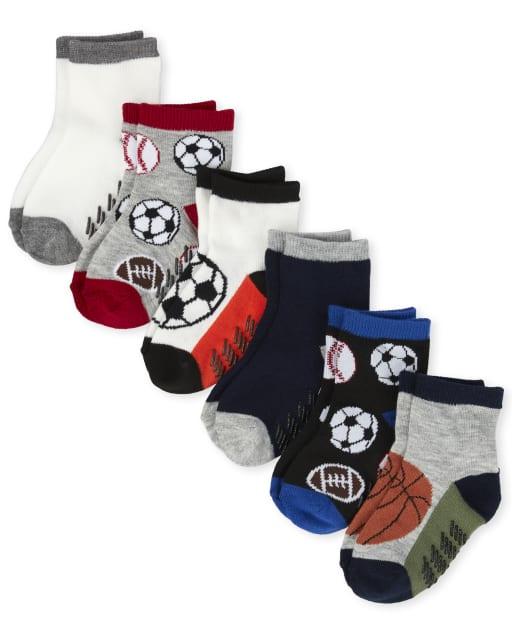 Calcetines midi deportivos para niños pequeños, paquete de 6