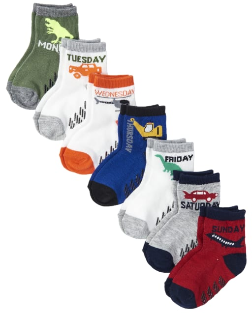 Toddler Boys Days Of The Week Midi Socks 7-Pack