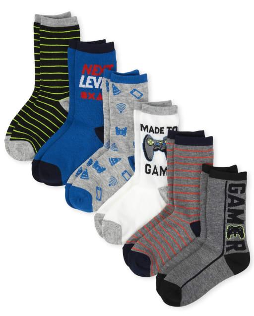 Boys Video Game Crew Socks 6-Pack