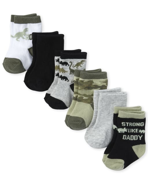 Baby Boys Dino Midi Calcetines 6-Pack
