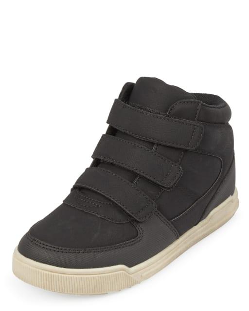 Boys Strap Hi Top Sneakers