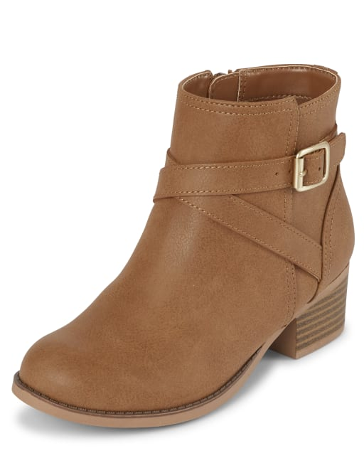 Girls Buckle Booties