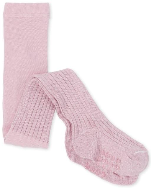Toddler Girls Glitter Rib Knit Tights