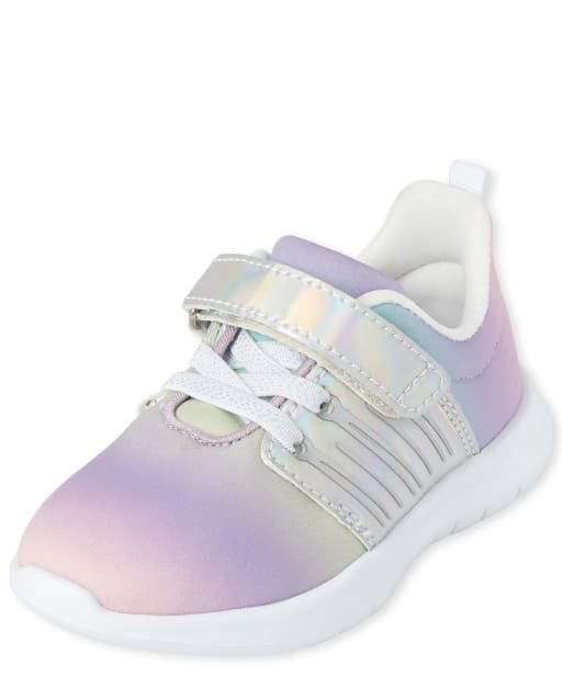 Toddler Girls Rainbow Running Sneakers