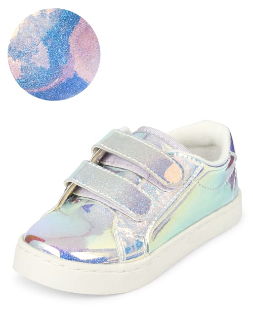 Toddler Girls Holographic Sparkle Low Top Sneakers
