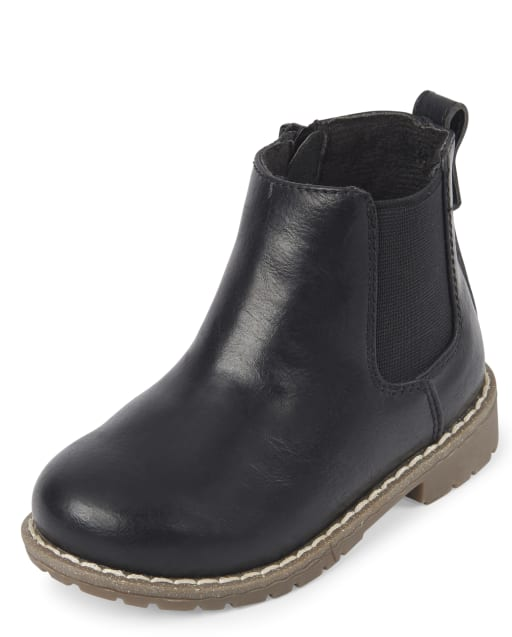 Toddler Boys Faux Leather Boots