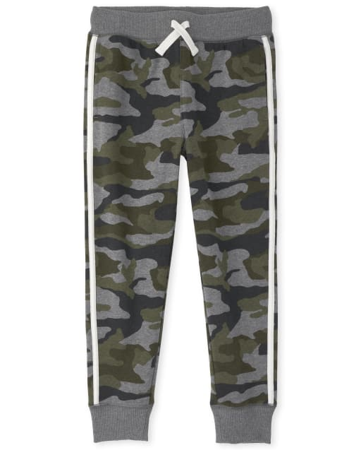 Pantalones de chándal de felpa Active Camo para niños