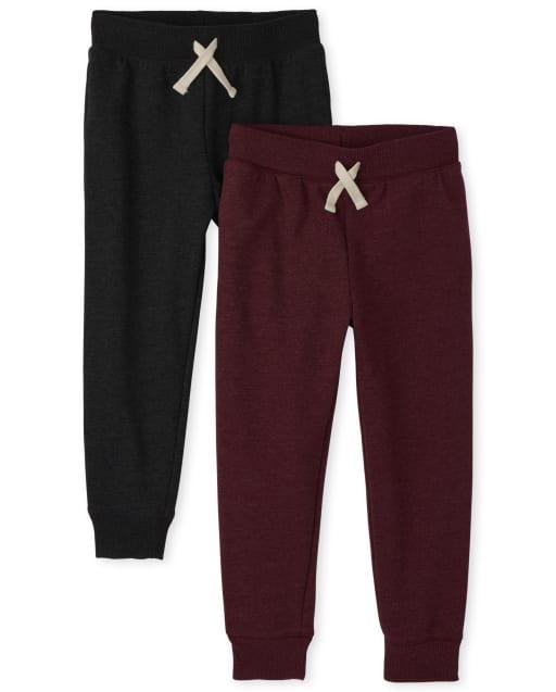 Boys Active Fleece Jogger Pants 2-Pack