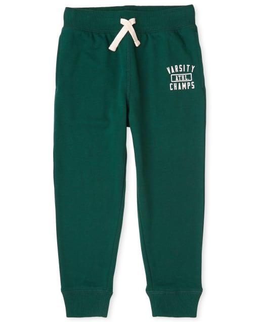 Pantalones de chándal de felpa con gráfico activo para niños