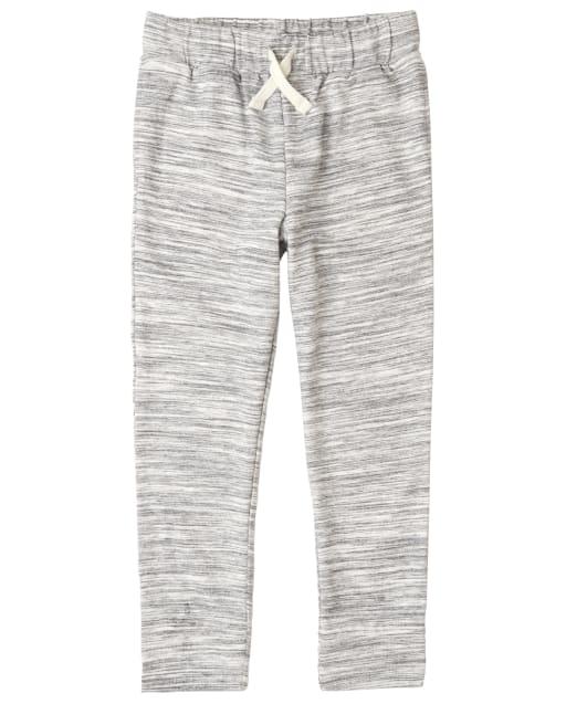 Pantalones de chándal de rizo francés marrones activos para niños
