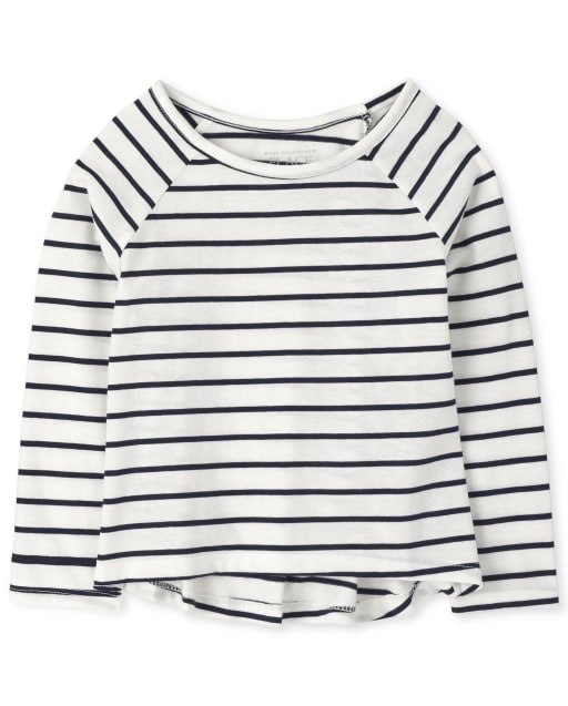 Baby And Toddler Girls Long Sleeve Striped Basic Layering Tee
