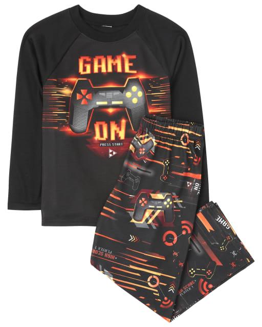Boys Long Sleeve 'Game On' Video Game Pajamas