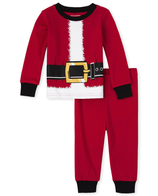 Unisex Baby And Toddler Matching Family Christmas Long Sleeve Santa Suit Snug Fit Cotton Pajamas