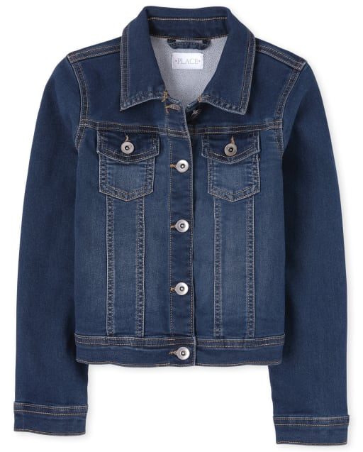 Girls Super-Soft Stretch Denim Jacket