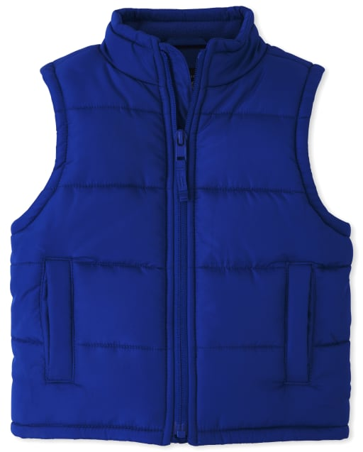 Toddler Boys Sleeveless Puffer Vest