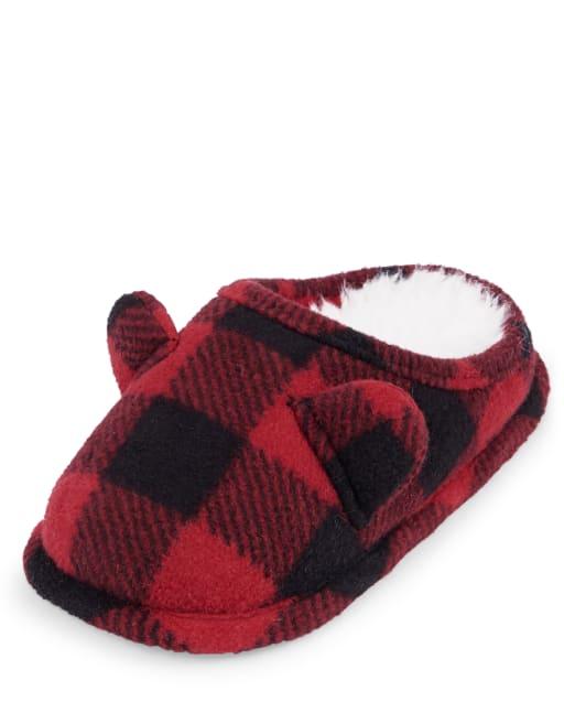 Unisex Toddler Matching Family Christmas Buffalo Plaid Slippers