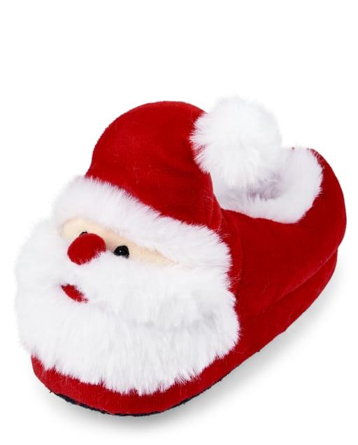 Unisex Toddler Matching Family Christmas Santa Slippers