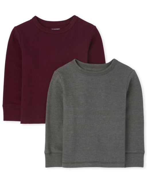 Baby And Toddler Boys Long Sleeve Thermal Top 2-Pack