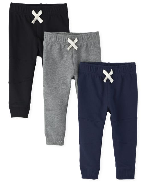 Baby And Toddler Boys Active French Terry Jogger Pants 3-Pack