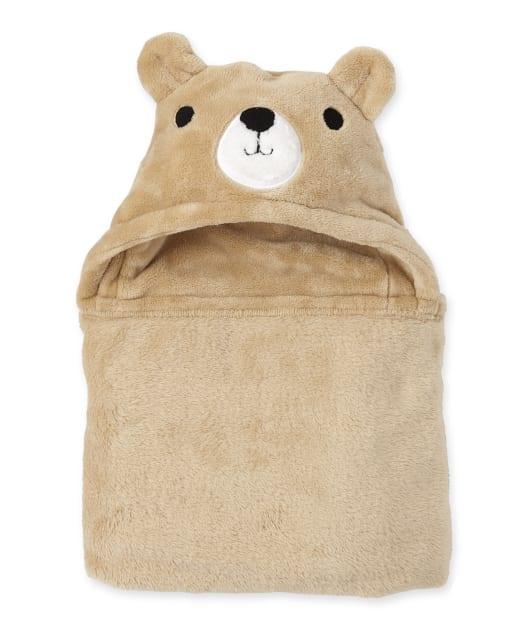 Manta acogedora con capucha Happy Bear para bebé niño