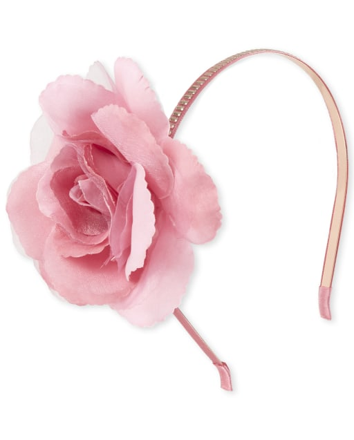 Girls Flower Sequin Metal Headband