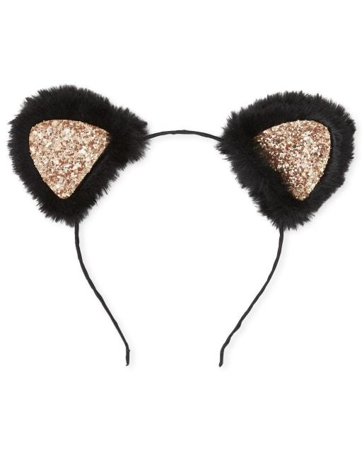 Girls Faux Fur Cat Ears Headband