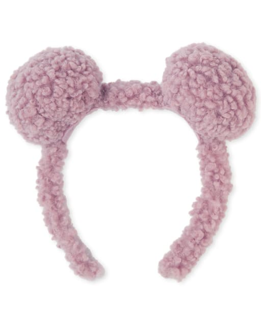 Girls Faux Fur Pom Pom Headband