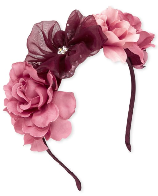 Girls Confetti Shaker Flower Crown Headband