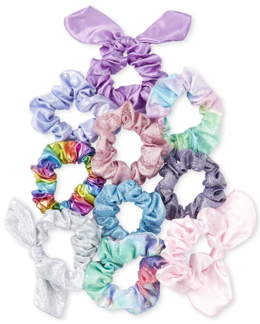 Girls Scrunchie 10-Pack