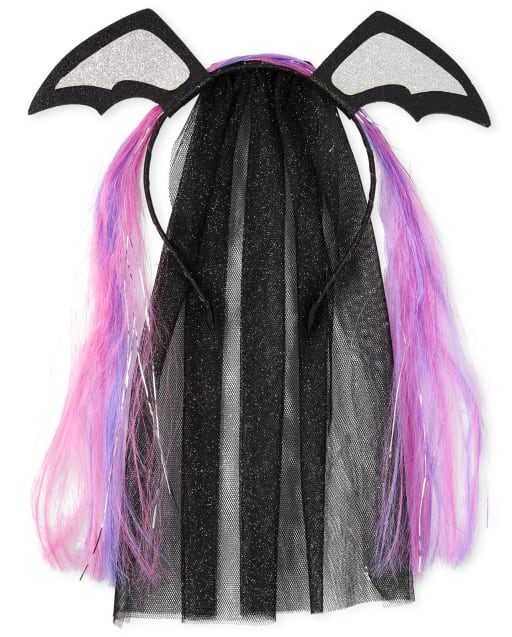Girls Halloween Bat Veil Headband