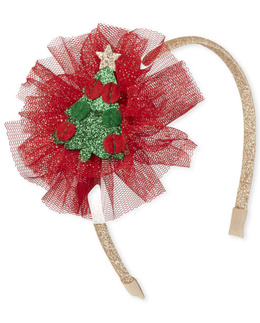 Toddler Girls Christmas Flower Headband