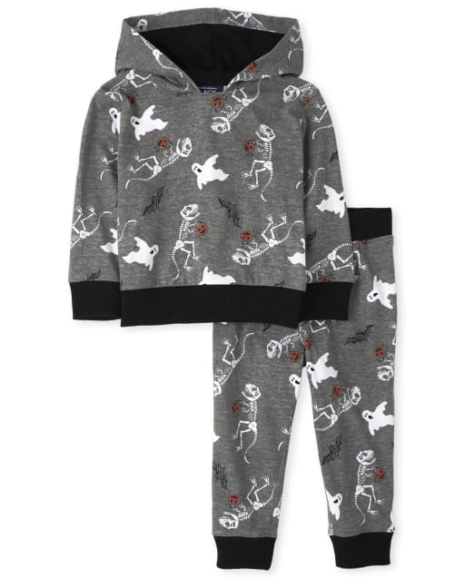 Baby And Toddler Boys Dino Hoodie And Jogger Pants Outfit Set