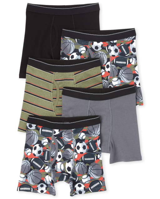 Boys Sports Boxer Briefs 5-Pack