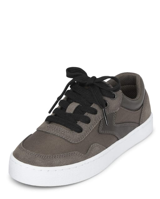 Boys Faux Suede Low Top Sneakers